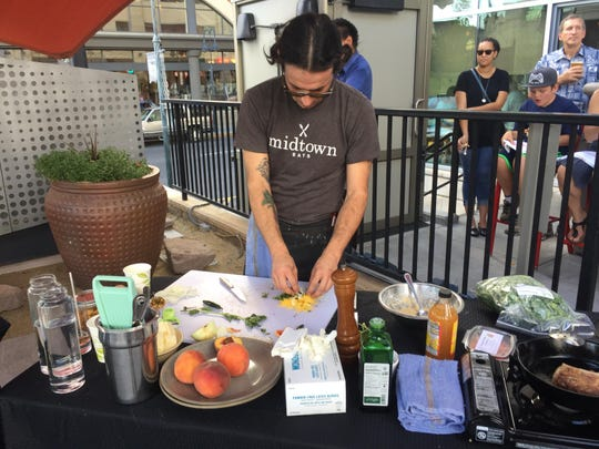 Chef Josh Berreman of Midtown Eats competes in the finals of the July 2017 Chefs Al Fresco competition in downtown Reno. He won the cook-off.