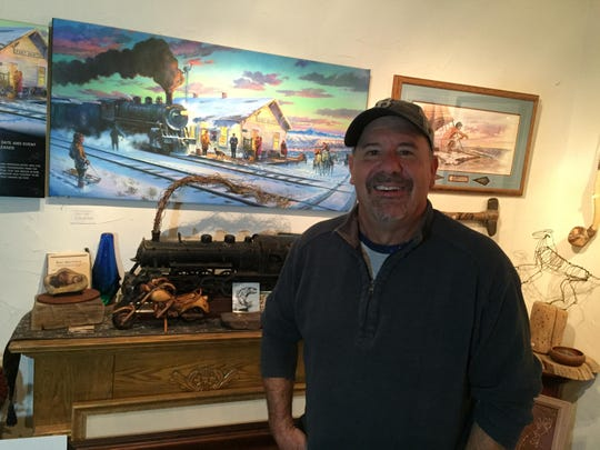 Great Falls artist Brian Morger has a studio and gallery in downtown Great Falls.