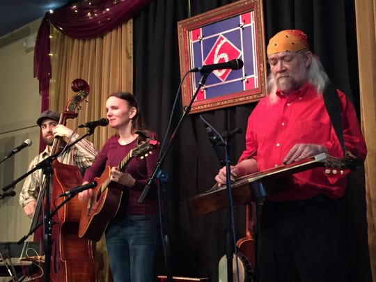 The Heather Pierson Acoustic Trio — from left, Shawn