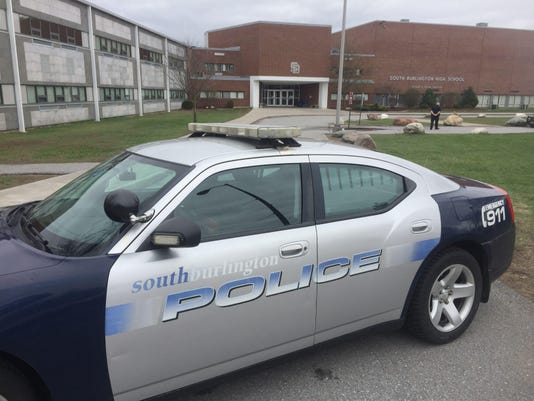 South Burlington High School lockdown 1