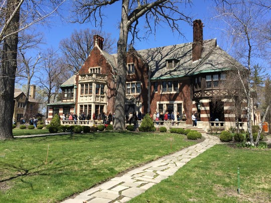 """The Charles T. Fisher mansion opened its door for the Junior League of Detroit's """"Sneak a Peek"""" weekend."""