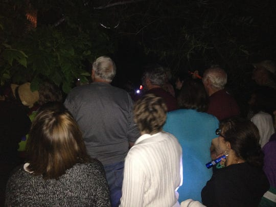 An excited crowd turned out Wednesday evening to search for mysterious moths during the first annual Moth's Night Out at the Butterfly Gardens of Wisconsin, Appleton.
