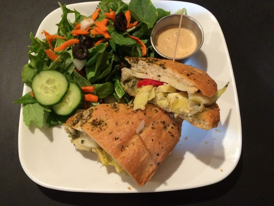 A focaccia melt at Twisted Tree Cafe in Asbury Park.