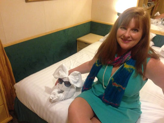 FLORIDA TODAY's Suzy Leonard didn't spend much time in her room aboard the Enchantment of the Seas. She was too busy having fun.