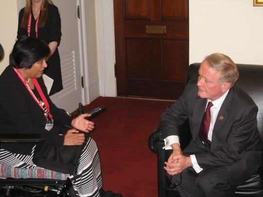 Sonal Shah, a resident of the Basking Ridge section of Bernards and an ALS patient, visited Capitol Hill in May 2014 to promote ALS awareness. She met with local legislators, including U.S. Rep. Leonard Lance, R-N.J., 7th District, who worte a forward for Shah's recently published memoir.