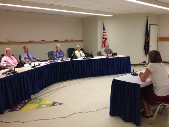 The South Burlington City Council interviews Councilor Meaghan Emery as a candidate for the Burlington Airport Commission in this file photo from August. Council Chairwoman Pam Mackenzie resigned from the panel in October, and the remaining councilors appointed a successor, John Simson.