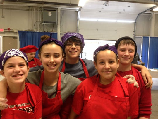 Sharon Elementary School students won a division of Junior Iron Chef Saturday at the Champlain Valley Expo for their pasta with butternut squash and vegetarian bacon. The students from left to right: Maddie McShinsky, Alicia Radicioni, Ben Rodis, Macy DeMara, Tom Bissaillon