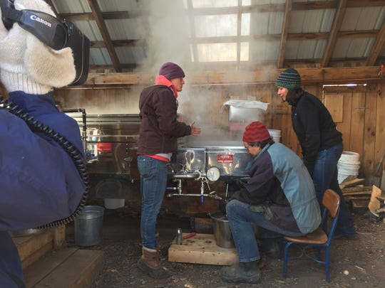 "A production crew from the PBS show ""Ask This Old House"" was at Shelburne Farms Tuesday to film an episode about maple sugaring."
