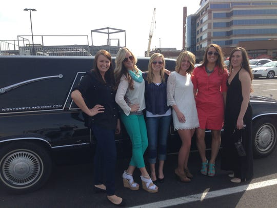 Night Shift Limousine tours use a hearse-turned-limo.