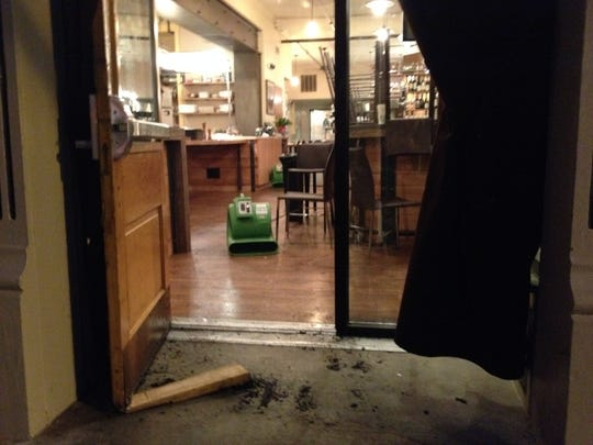 Clean up is under way at Zula Restaurant & Wine Bar on Wednesday after a minor early morning fire.