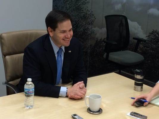 Marco Rubio at Des Moines Register.JPG