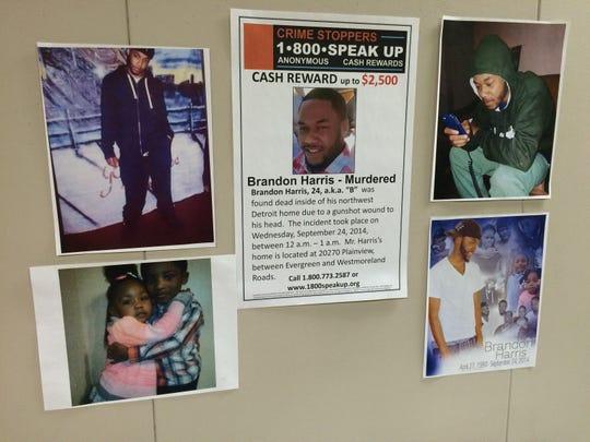 Brandon Harris, 24, was killed in September.