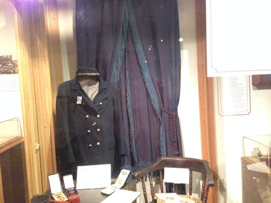 A Civil War uniform, worn by one of the 700 African-American members of the 25th Michigan Volunteer Infantry, on display at the Michigan Historical Museum in Lansing.
