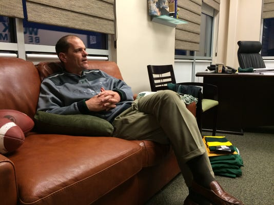 Mike Bobo in his office