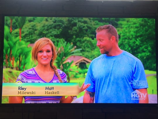 """Husband and wife Matt Haskell and Riley Milewski were recently featured on an episode of HGTV's """"Caribbean Life."""""""