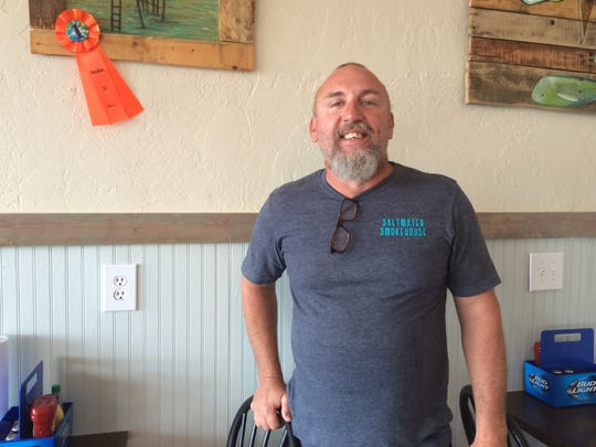 Randy Post opened Saltwater Smokehouse on Pine Island in February. Post started cooking on Sanibel when he was 14.