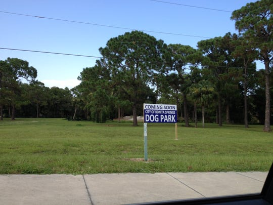 Construction of Bonita Springs' dog park on East Terry Street is scheduled to start in September and be completed in November.