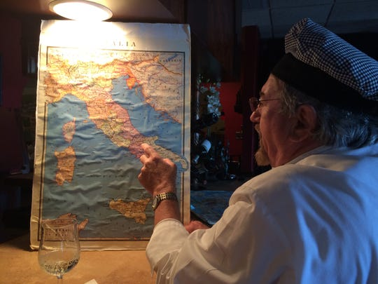 Dario Zuljani keeps a map of Italy and his homeland of Istria at the bar of Ariani, the restaurant he opened in Cape Coral in 1989.