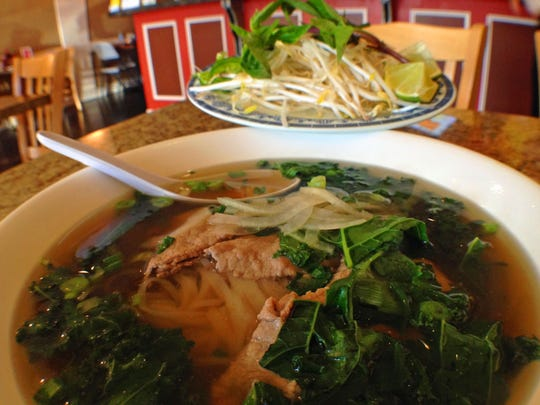 A steamy bowl of Vietnamese pho from the original Pho Vinh in Cape Coral.