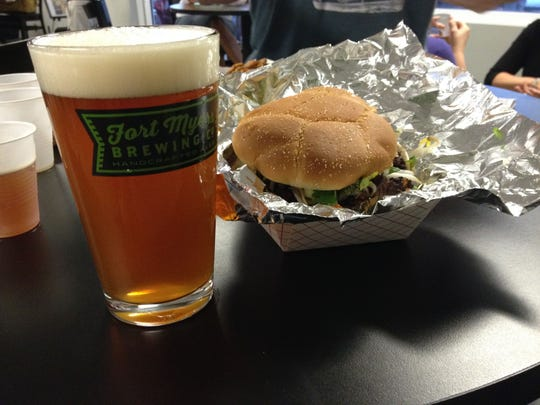 The Nosh Truck is one of the food trucks helping Fort Myers Brewing Co. celebrate it's 2nd anniversary on Saturday.
