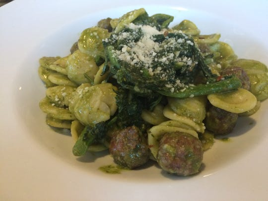 Orecchiette alla Pugliese features fresh, ear-shaped pasta, sausage, chili flakes and sauteed broccoli rabe at Osteria Celli in south Fort Myers.