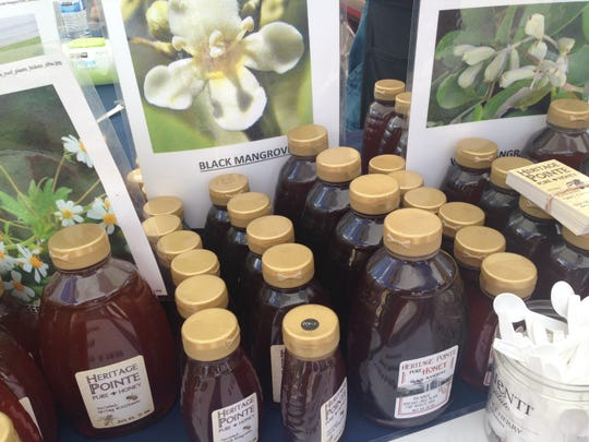 Black mangrove honey found at the Coconut Point Farmers Market in Estero.