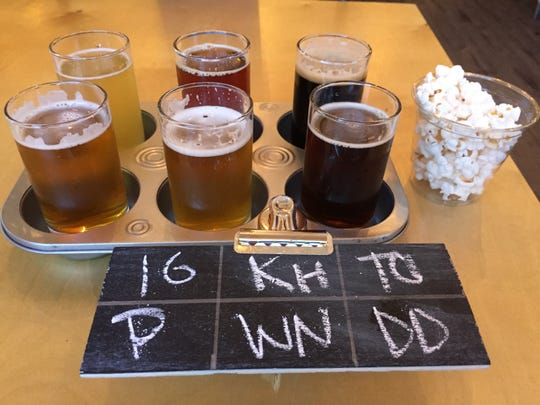 A sampler of craft beers at Momentum Brewhouse on Bonita Beach Road.