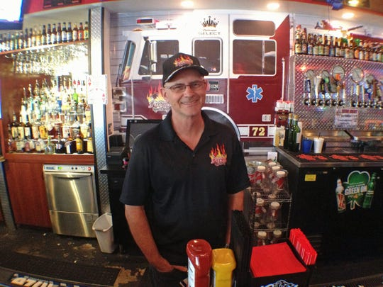 Former firefighter Joe Wise opened Firehouse Sports Grill in North Fort Myers on Nov. 11, 2011.