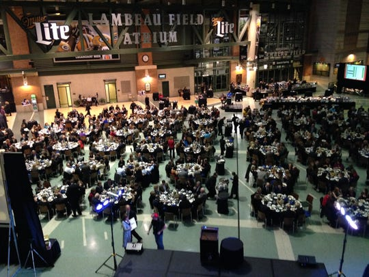 About 600 people attended the Hard Hats & Heels fundraiser