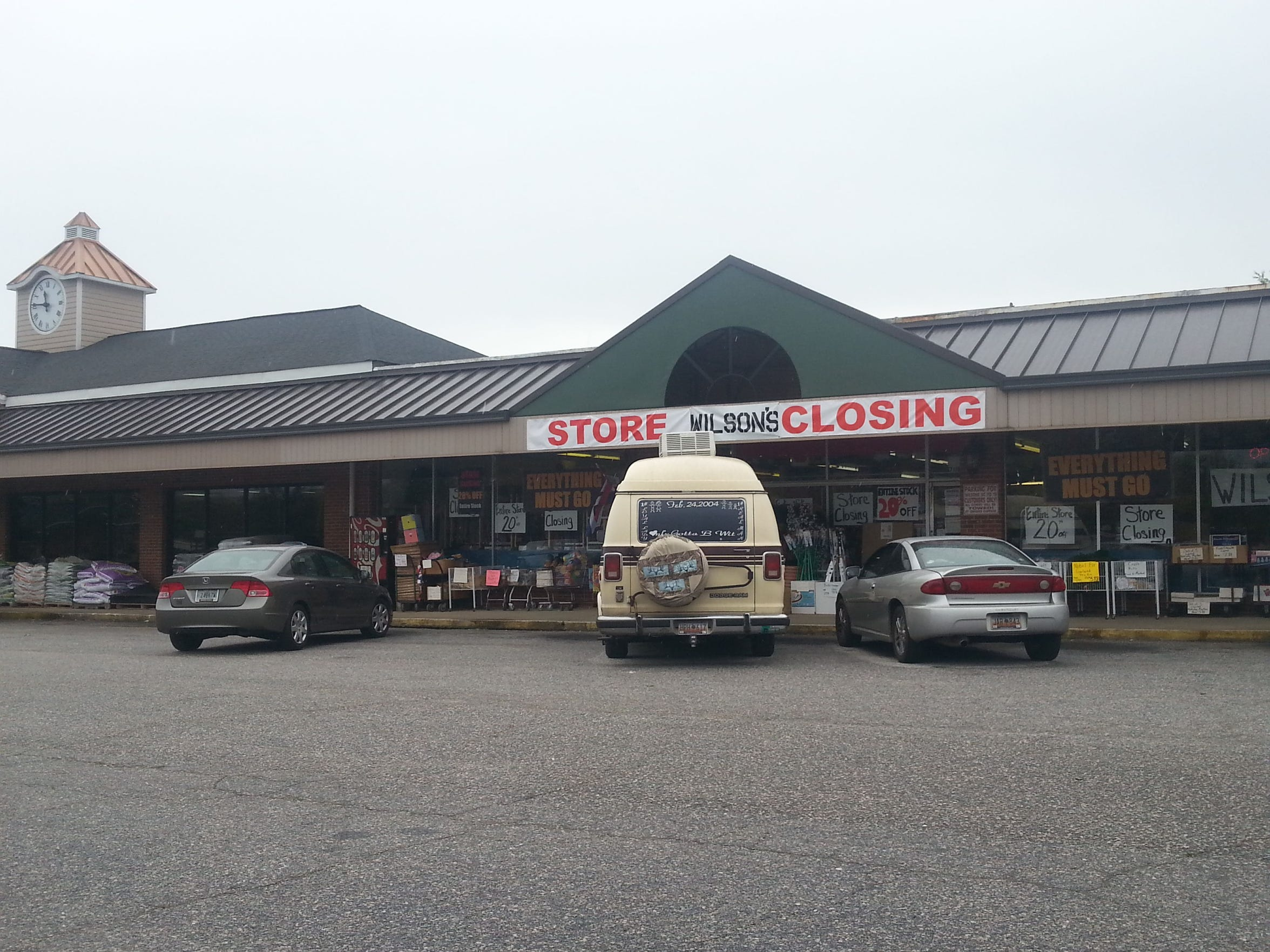 The Wilson's store, across the street from the old