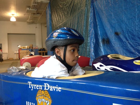 Tyren Davie, 9, Pike Township, won a spot in the championships of the Soap Box Derby in Akron, Ohio. He's with the Indianapolis Inner City Youth Racing League.