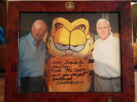Pence and Garfield creator Davis.jpg