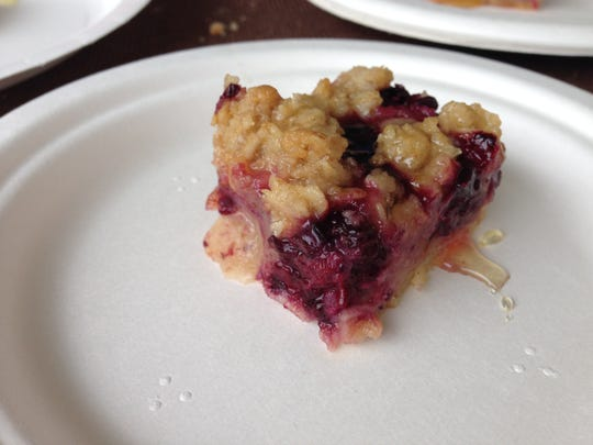 Circle City Sweets' Indiana Fruit Streusel Tart is