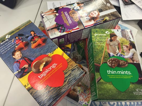 Girl Scout Cookies come in a variety of flavors.