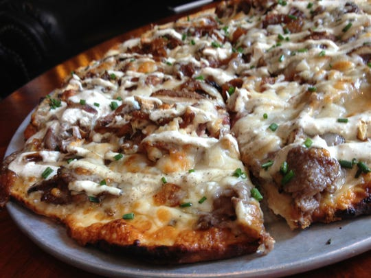 Prime rib pizza at Harry & Izzy's, double cheeseburger at Workingman's Friend, and cheese-crusted tacos carnitas at Yard House are some of the many food options that will satisfy your cravings and keep you fueled.