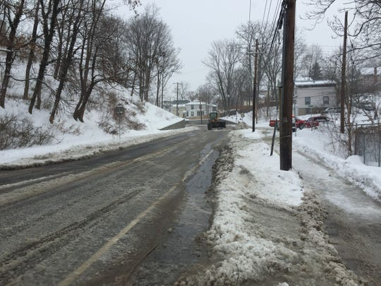 Parts of East Clinton and South Aurora streets were closed at 10 a.m. Sunday after a water main break at the South Aurora and Pleasant Street intersection. Emergency personnel were detouring traffic onto Hudson Street.
