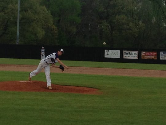 Payton Bankston pitched seven innings for Trinity Christian Academy, allowing six hits and striking out two batters.