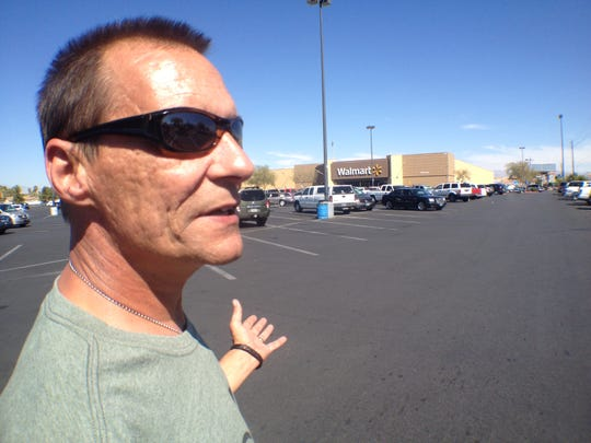 On Friday, Aug. 29, Todd Woodruff of Lafayette made his first — and what he says will be his last — visit to Las Vegas since his daughter, Amanda Miller, and her husband, Jerad Miller, killed two police officers and a bystander on June 8. Here's a look at his one-day round trip to Las Vegas to see where his daughter committed her crime, the Walmart where she died and to bring home the cats she left behind.