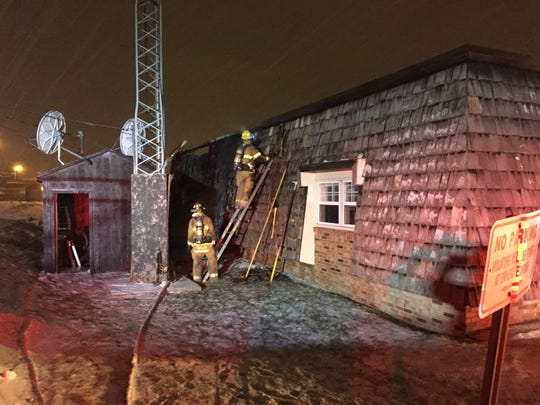 Firefighters were at the scene of a reported fire at