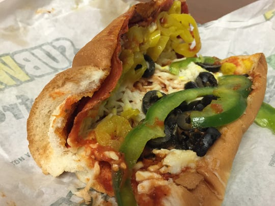 Satisfy your sandwich and pizza cravings at once with Subway's Pizza Sub.
