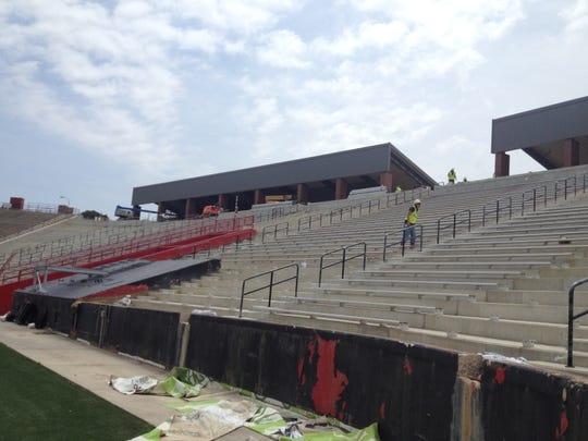More than 6,000 new seats were added to the south end zone of Cajun Field in 2014.