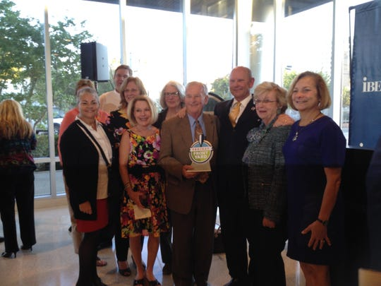 Jan and Charlie Wyatt and the Bayou Vermilion Preservation Association were honored with a Mayor-President's Front Yard Award.