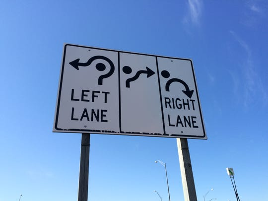 Directions for one of Brighton's roundabouts.