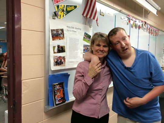 Brant Kollross with his main teacher, Mary Ellen Littman.
