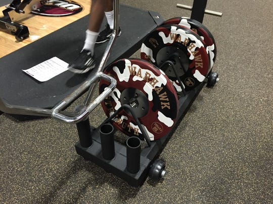 ULM is the only college team with the specific bumper weights used for olympic lifting. The only other team to use such is the Washington Redskins.