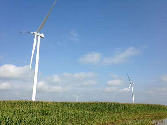 Wind turbines are popping up in southern Randolph County