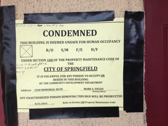 condemn notice at Royal Inn.jpg