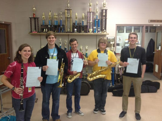Band students receiving honors.JPG