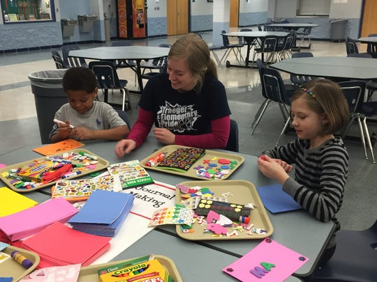 Carl Traeger families had the opportunity to attend a recent family night titled Noodles and Knowledge.
