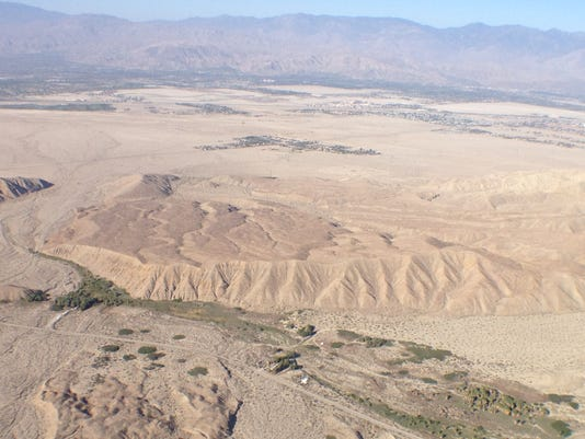 San Andreas Fault aerial photo